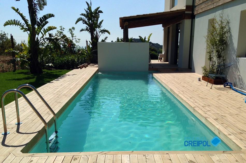 Piscina de obra piscines creipol for Piscina tiana